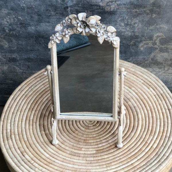 Tin Rose Free Standing Mirror