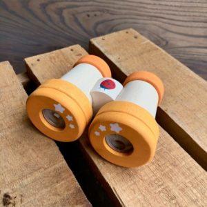 Yellow Wooden Binoculars
