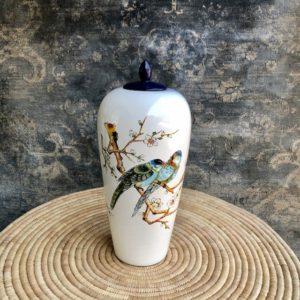 Blue Bird Temple Pot