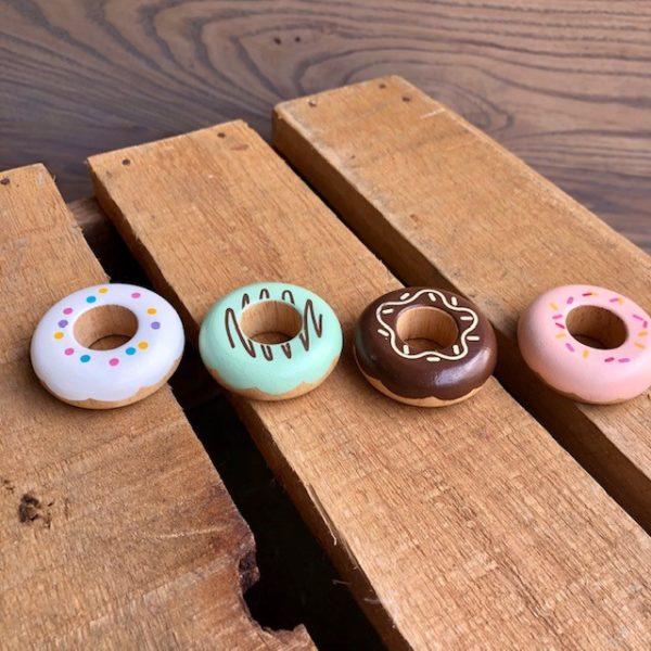 Wooden Doughnut Set