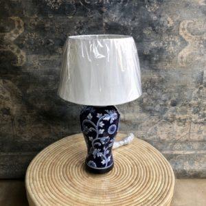 Dark Blue & White Lamp and Shade