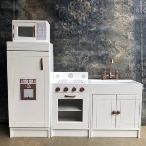 Full Kitchen Set with Rose Gold Finishes