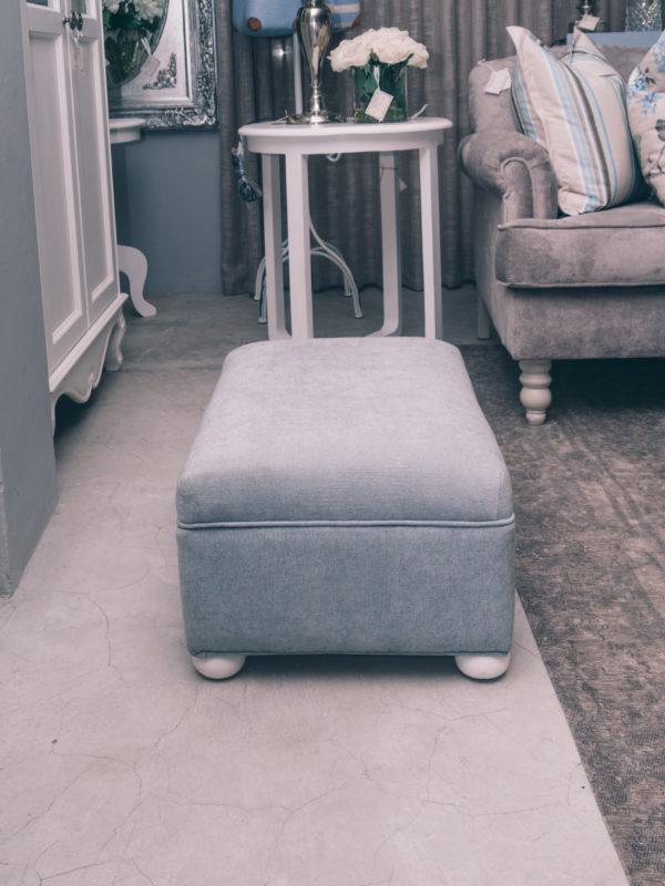 Plain top fabric foot stool